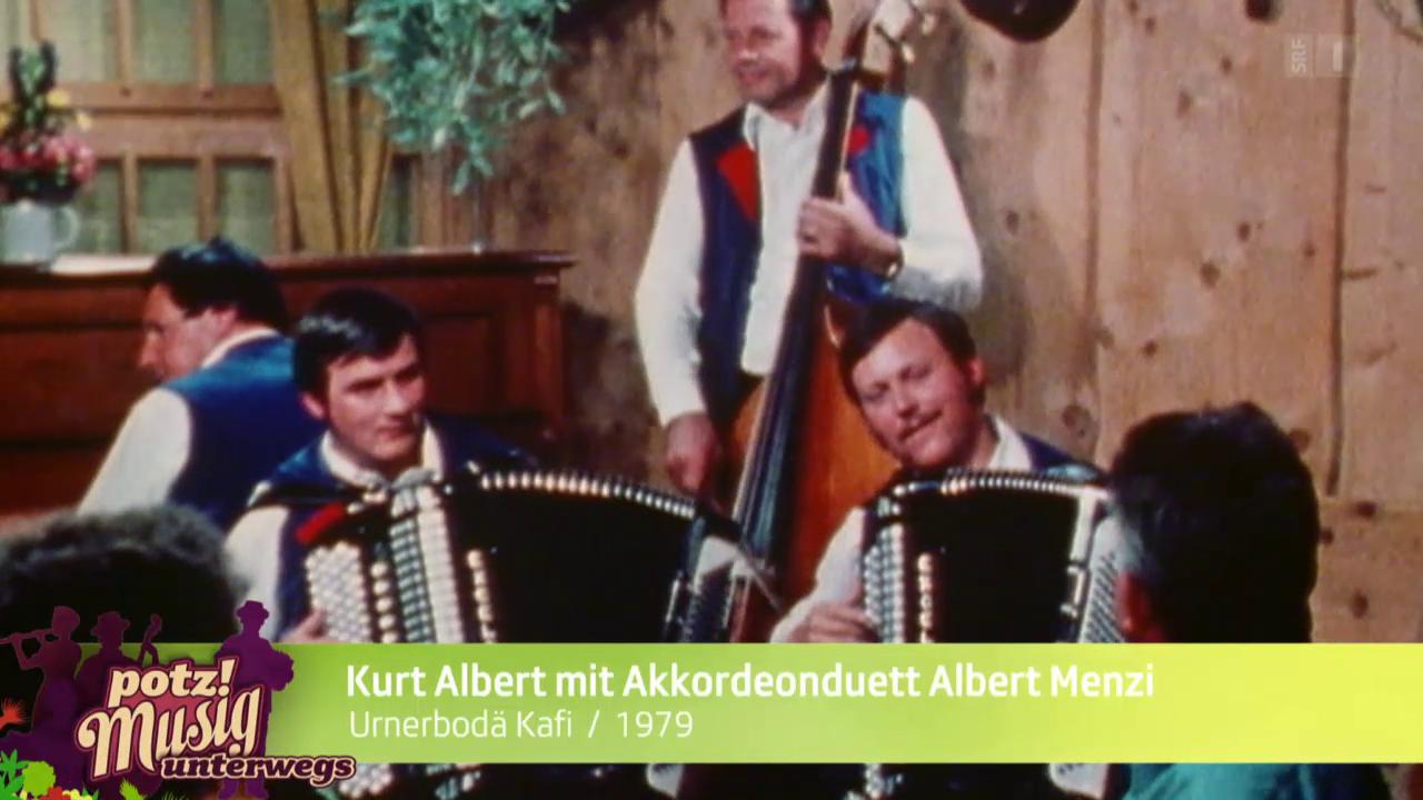 Kurt Albert mit Akkordeonduett Albert Menzi