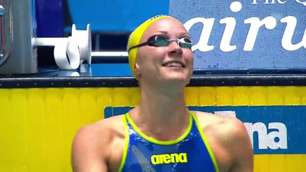 Video «Noch ein Weltrekord von Sarah Sjöström» abspielen