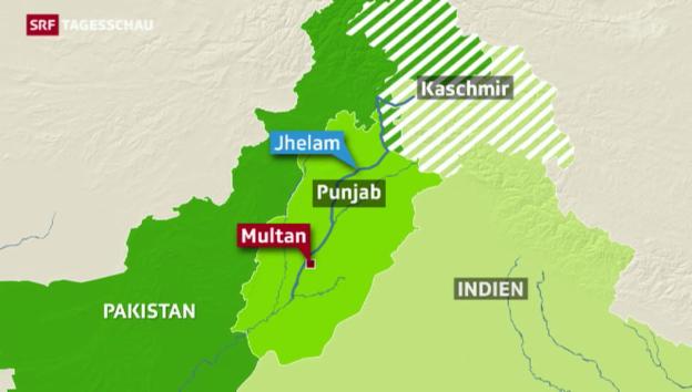 Video «Monsunfluten in Pakistan» abspielen