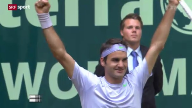 Video «ATP Halle, Final Federer-Juschni» abspielen