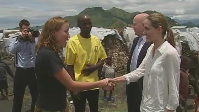 Angelina Jolie in der Demokratischen Republik Kongo