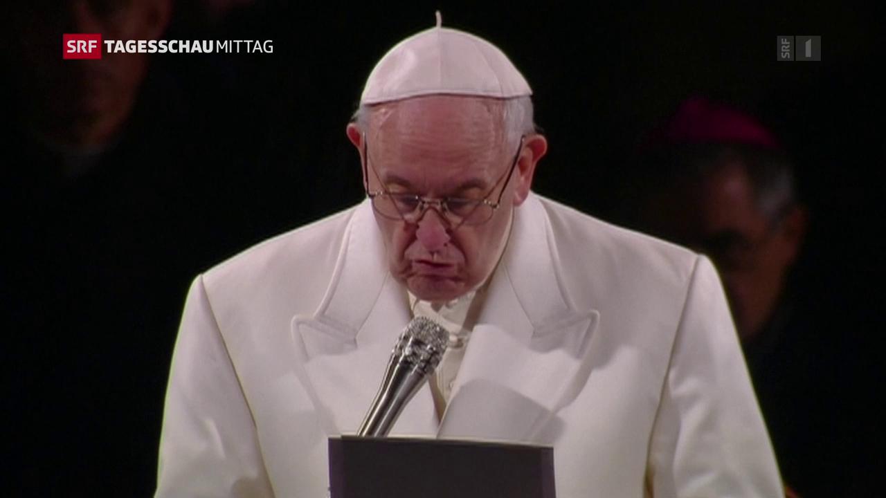 Der Papst bei der Karfreitags-Prozession