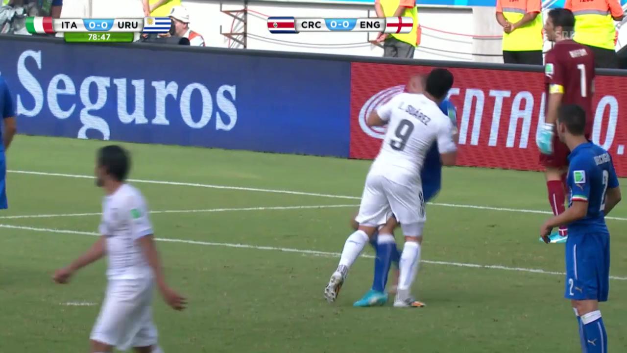 FIFA WM 2014: Luis Suarez beisst Giorgio Chiellini