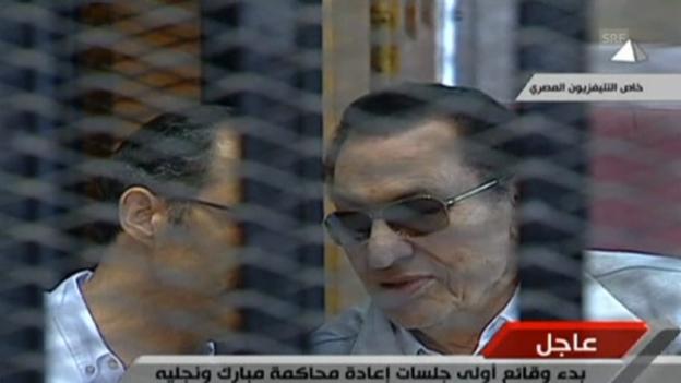 Video «Beginn im dritten Mubarak-Prozess» abspielen