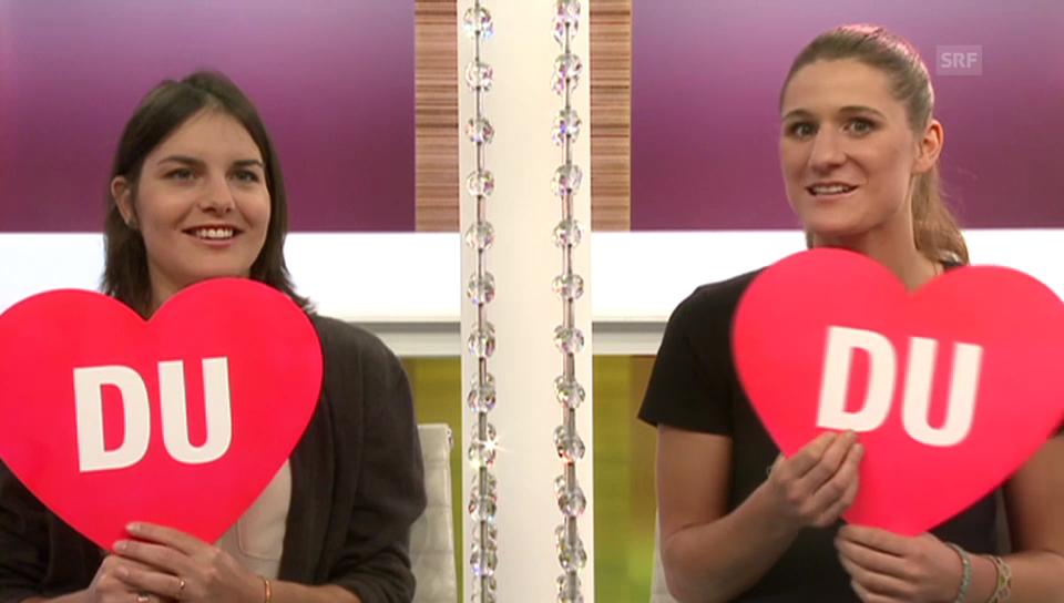 «Ich oder Du»: Sina Candrian und Isabel Derungs