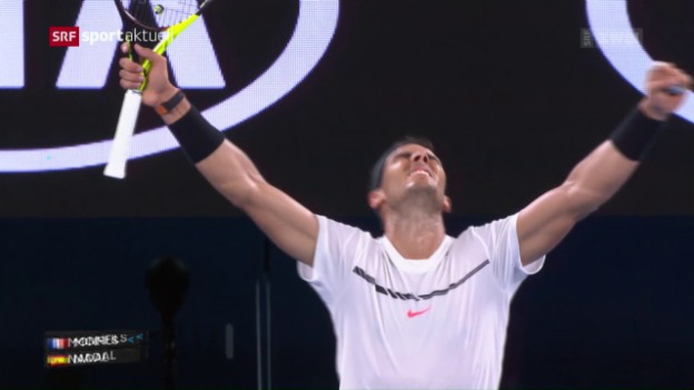 Video «Monfils ärgert Nadal in Melbourne» abspielen