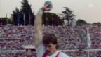 Video «Leichtathletik: WM 1987 in Rom, Kugelstossen, Werner Günthör» abspielen