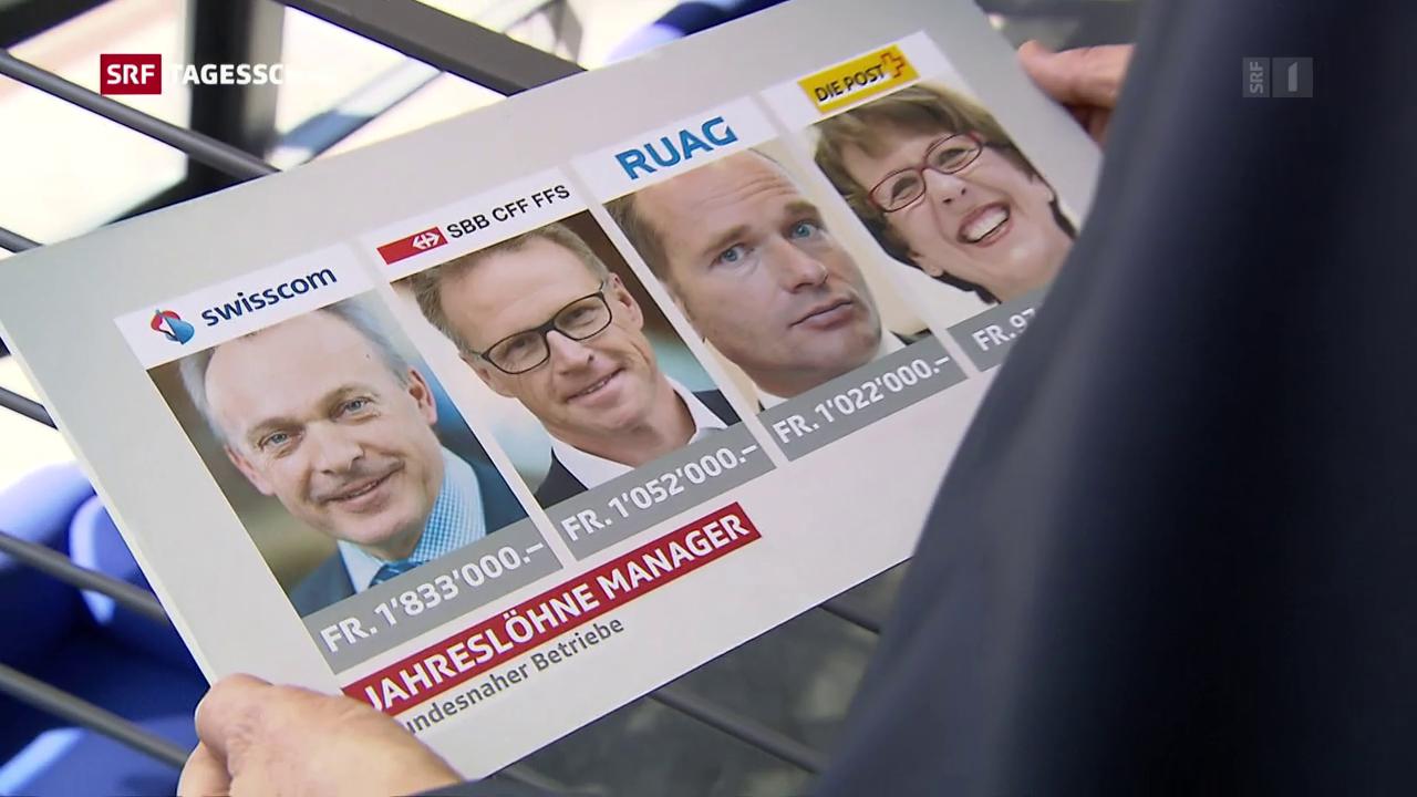 Parlament diskutiert Cheflöhne bei SBB und Post