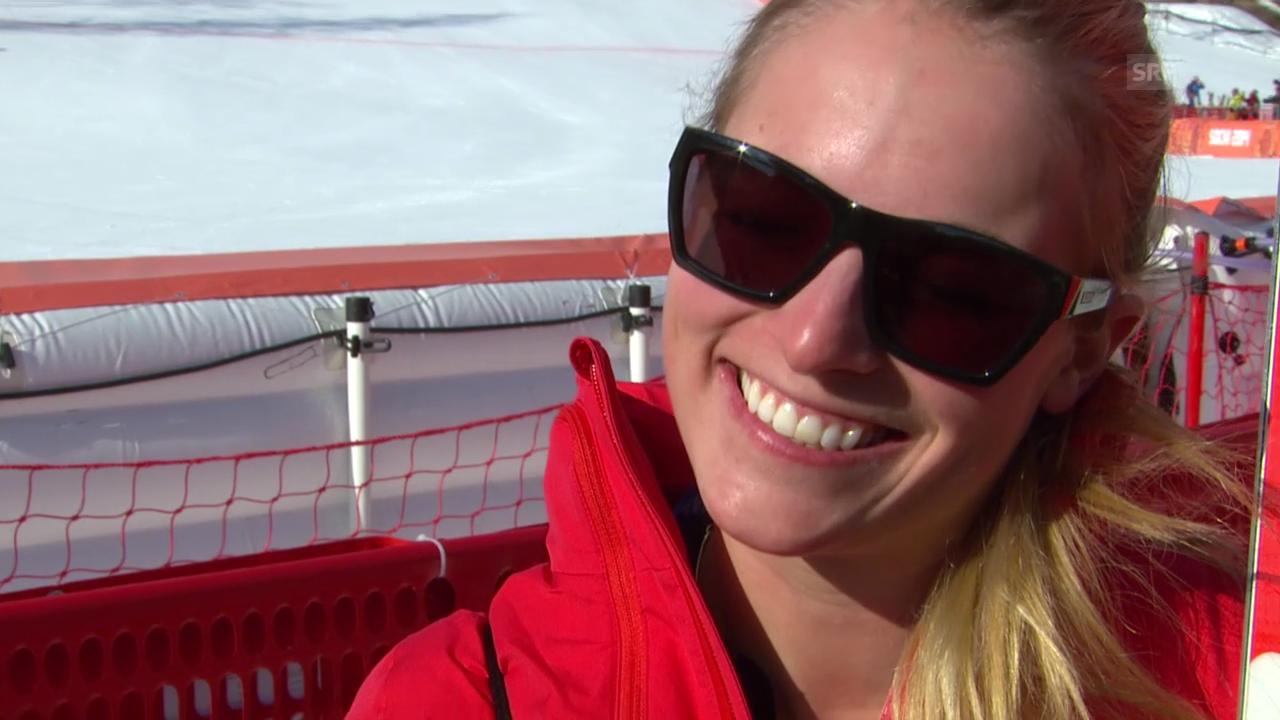 Ski: Super-Kombi Frauen, Interview mit Lara Gut (sotschi direkt, 10.02.2014)