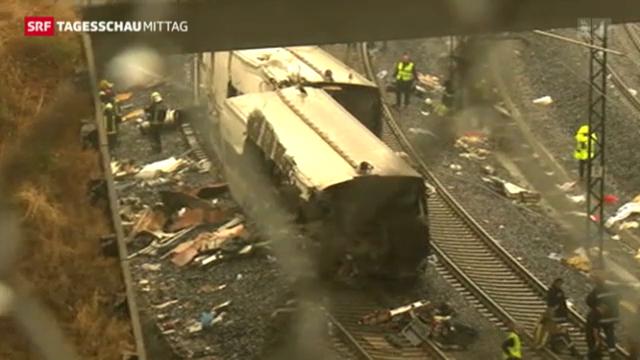 Schweres Zug-Unglück in Spanien