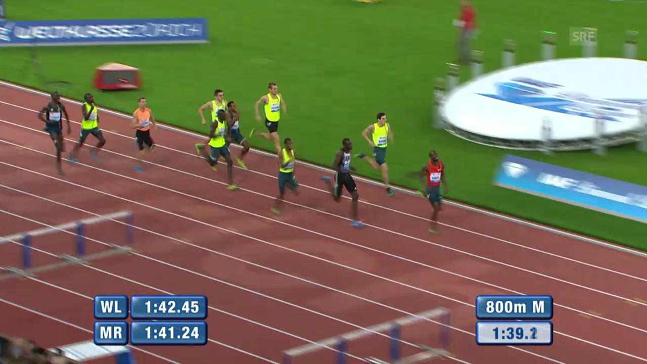 Leichtathletik: Weltklasse Zürich, 800 m Männer