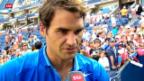 Video «Tennis: Federers erster Auftritt in New York» abspielen