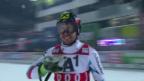 Video «Hirscher legt im 2. Lauf die Messlatte hoch» abspielen
