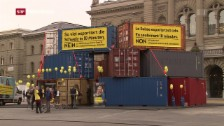 Video «Container gegen «Selbstbestimmungs-Initiative»» abspielen