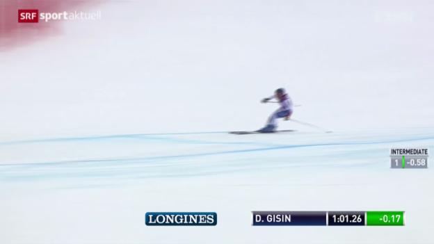 Video «Ski: Abfahrts-Trainings Männer und Frauen» abspielen