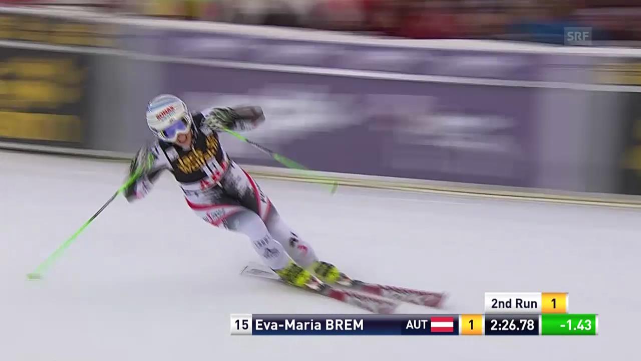 Ski alpin: Riesenslalom Are, 2. Lauf Eva-Maria Brem («sportlive», 6.3.14)