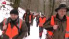 Video «Nachwuchs-Jäger auf Wildschwein-Jagd» abspielen