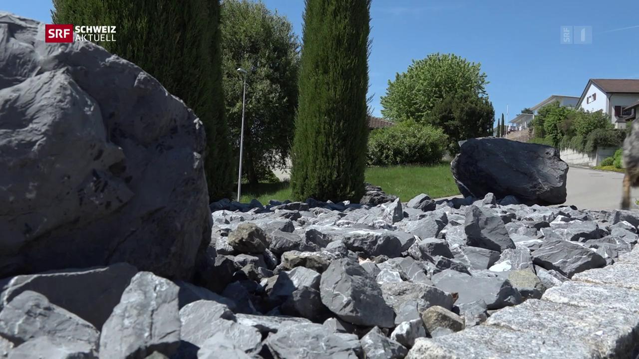 Schotterflächen statt blühende Gärten