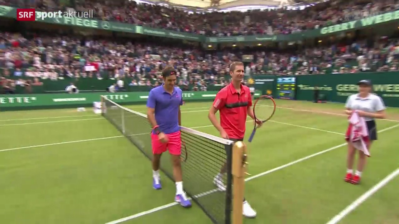 Tennis: ATP Halle, Federer - Mayer