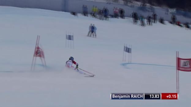 Video «Ski: Riesenslalom in Beaver Creek, der 1. Lauf von Benjamin Raich» abspielen