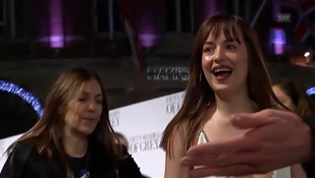 Video «Londoner Premiere von «Fifty Shades of Grey»» abspielen
