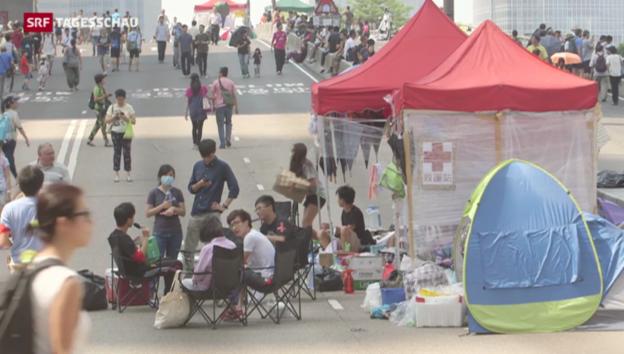 Video «Proteste in Hongkong lassen nach» abspielen