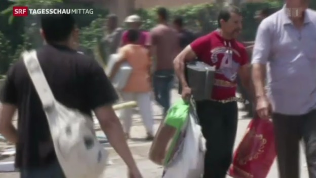 Video «Die Proteste in Ägypten halten an» abspielen
