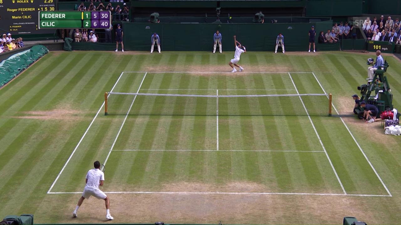 Federers abgewehrte Matchbälle