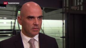 Video «Innenminister Berset ist enttäuscht über Nationalrats-Entscheid» abspielen