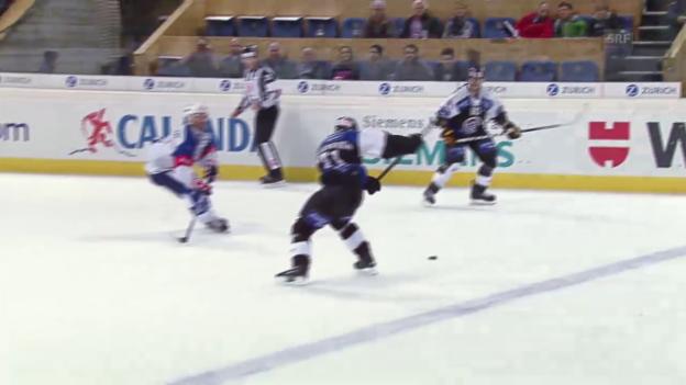 Video «Eishockey: Spengler Cup, Lugano-Adler Mannheim, 3:3 Pettersson» abspielen