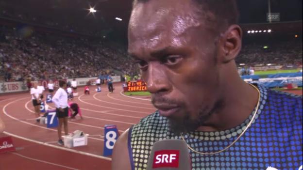 Video «Usain Bolt im Interview («sportlive»)» abspielen