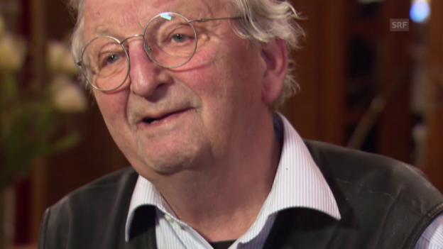 Video «Peter Bichsel: «Die Schweiz? Immer noch ein verfluchter Igel.»» abspielen