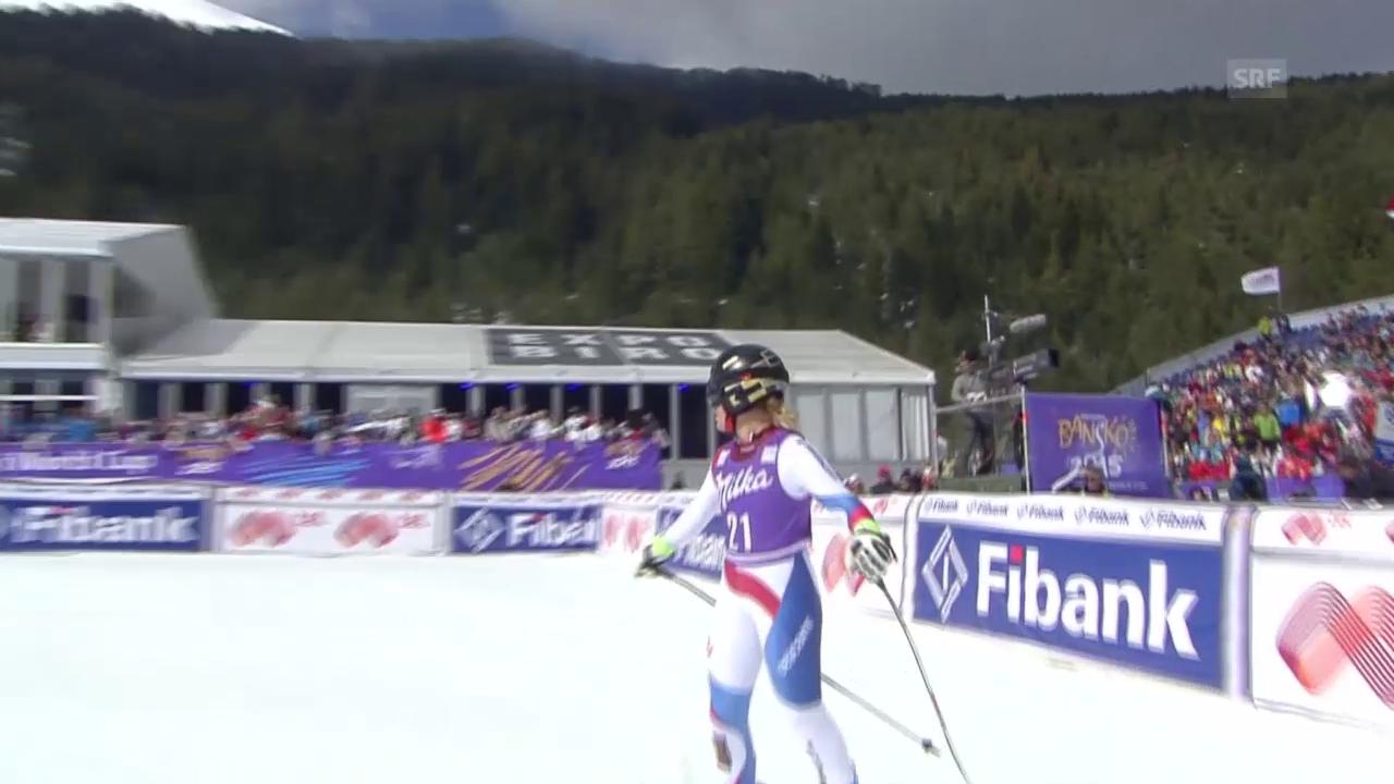 Ski alpin: Super-G in Bansko, die Fahrt von Lara Gut