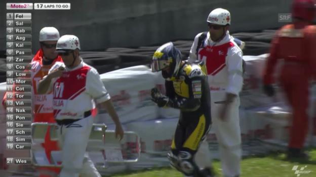 Video «Moto2: Tom Lüthis Sturz in Mugello» abspielen