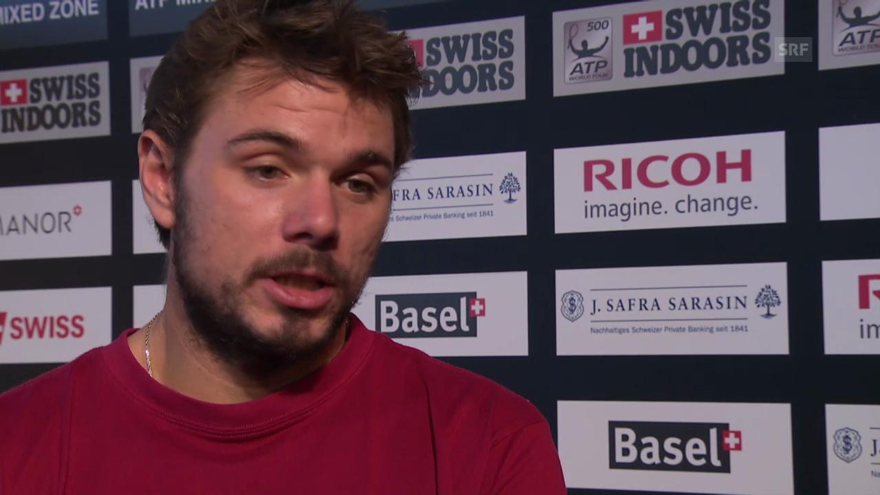 Tennis: Wawrinka über Gegner Kukuschkin