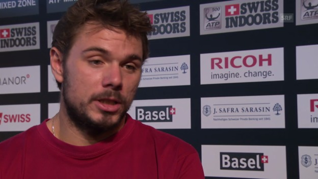 Video «Tennis: Wawrinka über Gegner Kukuschkin» abspielen