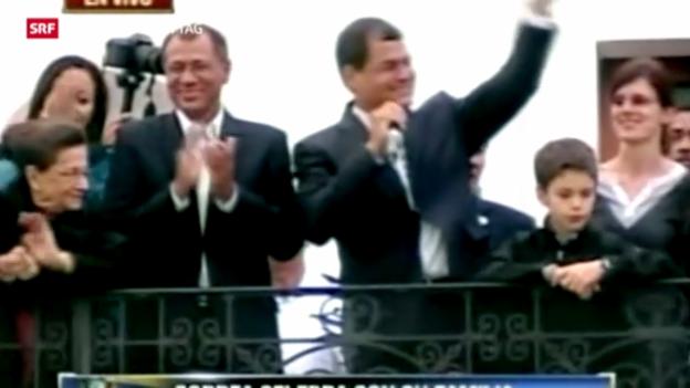 Video «Ecuadors Präsident Correa im Amt bestätigt» abspielen