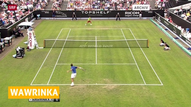 Video «Tennis: ATP-Turnier in Queen's, Viertelfinal Wawrinka - Matosevic» abspielen