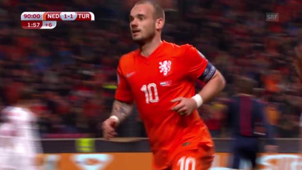 Video «Fussball: EM-Quali, Niederlande-Türkei» abspielen