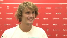 Video «Zverev: «Roger ist einfach unglaublich»» abspielen