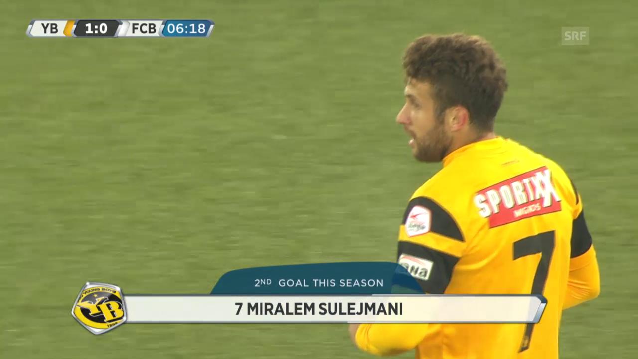 Fussball: YB - Basel, Tore von Miralem Sulejmani