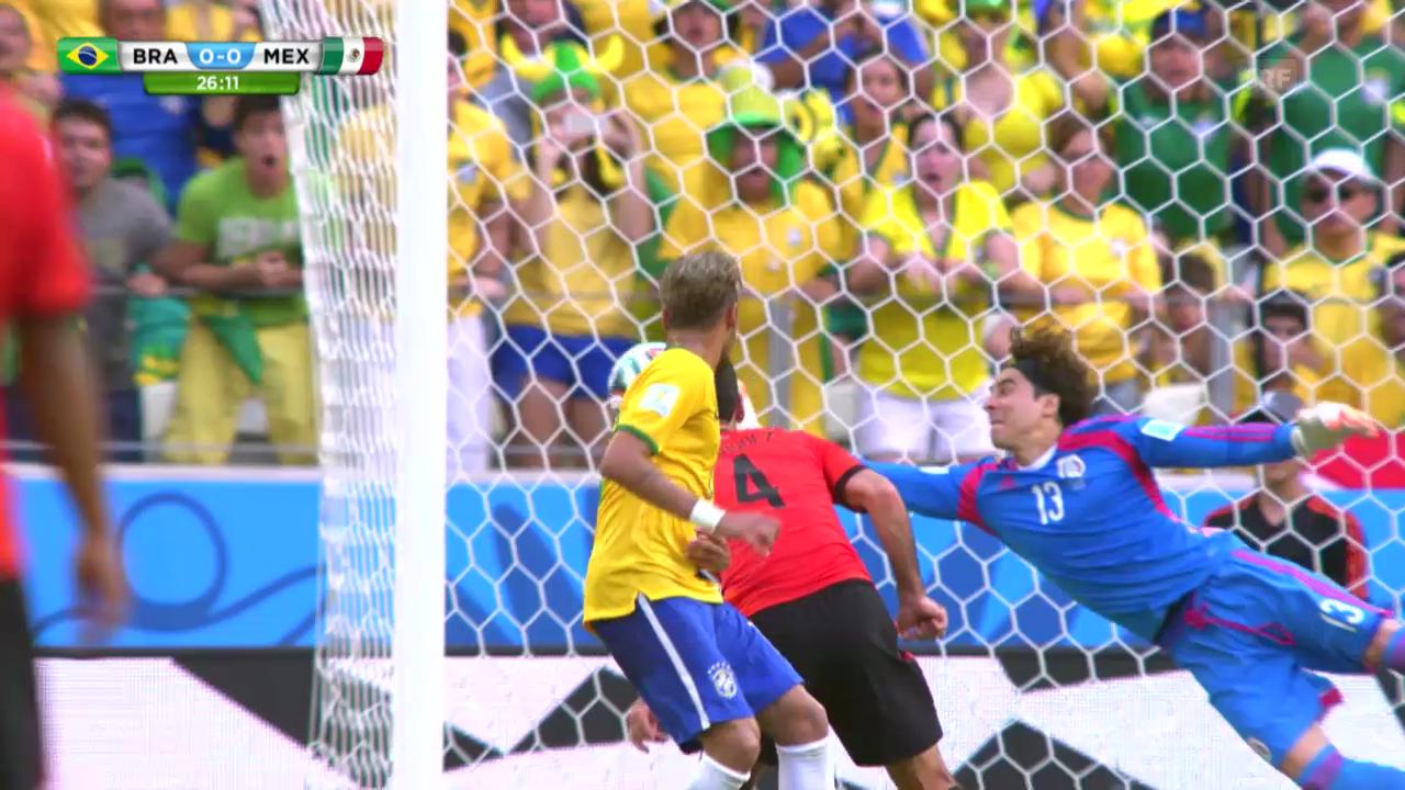 FIFA WM 2014: Die Paraden von Mexiko-Keeper Ochoa gegen Brasilien