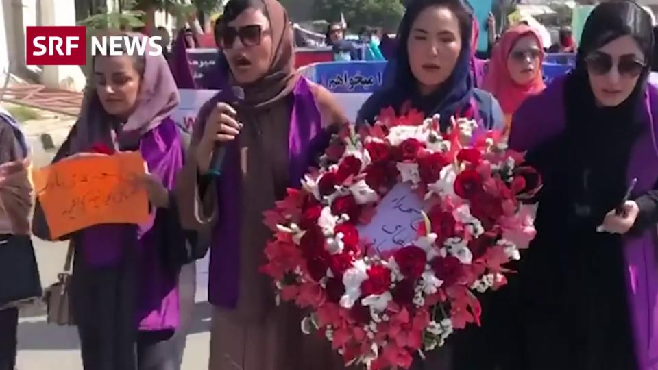 Furchtlos: Afghaninnen gehen für Ihre Rechte auf die Strasse