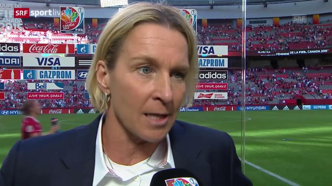 Fussball: Frauen-WM, Achtelfinal, Kanada - Schweiz, Interview Voss-Tecklenburg