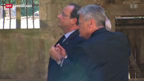 Video «Hand in Hand im Gedenken an SS-Massaker» abspielen