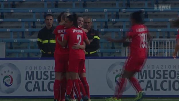 Video «Fussball: EURO-Quali der Frauen in Italien» abspielen