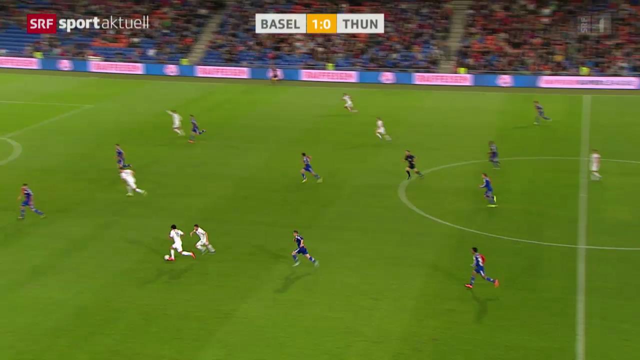 Fussball: Super League, Basel - Thun