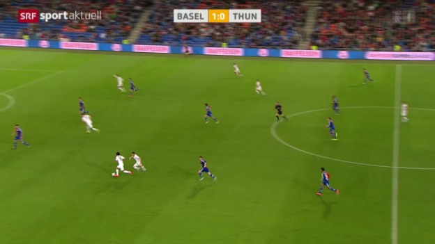 Video «Fussball: Super League, Basel - Thun» abspielen