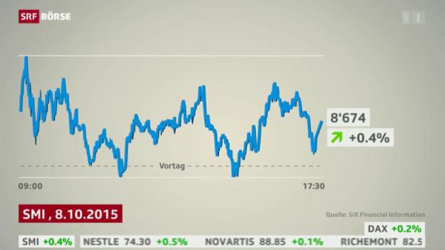 Video «SRF Börse vom 08.10.2015» abspielen