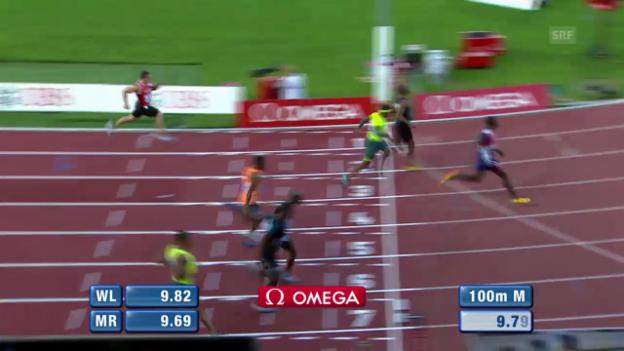 Video «LA: Athletissima, 100 m der Männer» abspielen